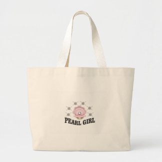 fille de perle de guerrier grand tote bag
