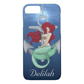Fille de pin-up, sirène d'ancre sous l'océan coque iPhone 7