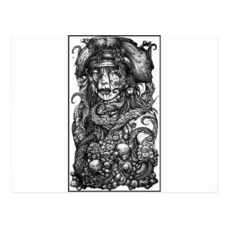 Fille de pirate de zombi cartes postales