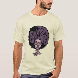 Fille de pourpre d'Afro T-shirt