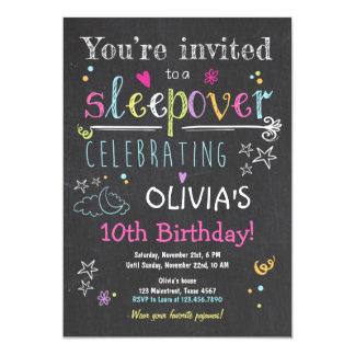 Fille de pyjamas de soirée pyjamas d'invitation de carton d'invitation  12,7 cm x 17,78 cm