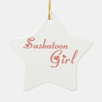 Fille de Saskatoon Ornement Étoile En Céramique