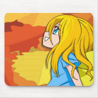 Fille de sourire féerique de Manga Tapis De Souris