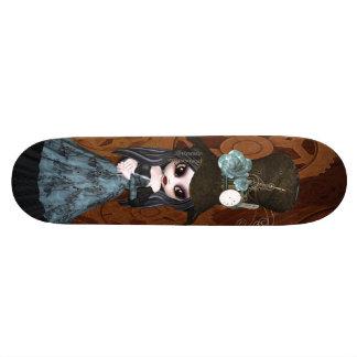 Fille de Steampunk Goth et planche à roulettes mig Plateaux De Skateboards
