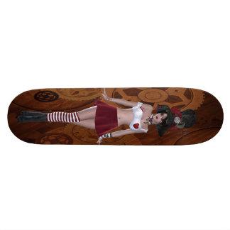Fille de Steampunk Goth et planche à roulettes mig Planche À Roulette
