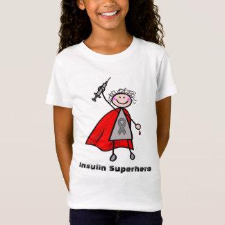 Fille de super héros d'insuline de diabète T-Shirt