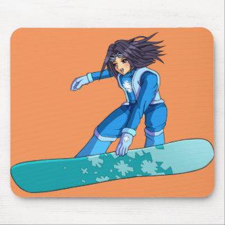 Fille de surfeur de Manga Tapis De Souris