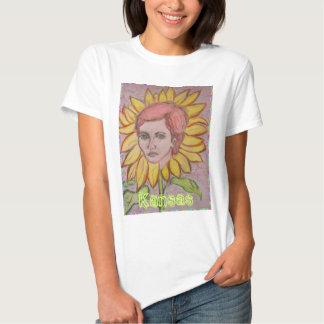 Fille de tournesol du Kansas T-shirt