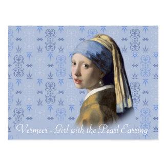 Fille de Vermeer- avec la boucle d'oreille de Cartes Postales
