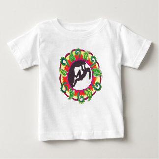 Fille de zen d'escalade de roche t-shirt pour bébé