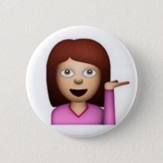 Fille d'Emoji Badge