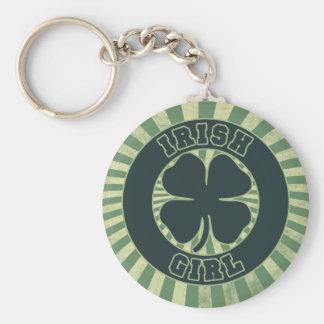 Fille d'Irlandais de shamrock Porte-clés