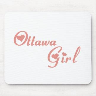 Fille d'Ottawa Tapis De Souris