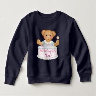 Fille d'ours d'anniversaire - deuxième sweatshirt