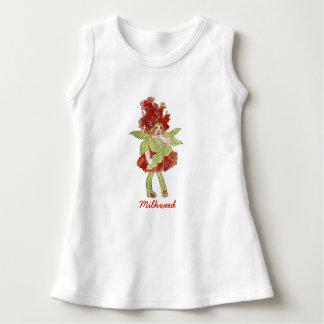 Fille drôle florale mignonne d'enfant de fleur de robe sans manche