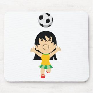 Fille du football tapis de souris
