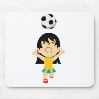 Fille du football tapis de souris