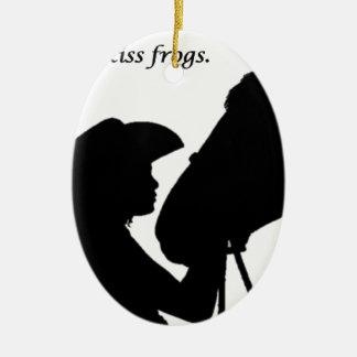 Fille embrassant le cheval ornement ovale en céramique