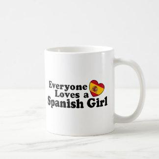 Fille espagnole mug blanc