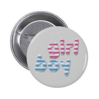 fille et garçon brouillés badge avec épingle