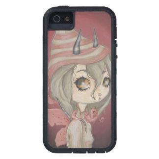 Fille féerique de dragon dans le cas rose de coques Case-Mate iPhone 5