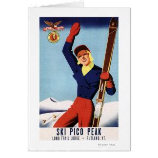 Fille flexible de ski de Pin- d'insecte Carte De Vœux