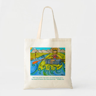 Fille fourre-tout réutilisable de rivière sac en toile budget