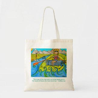 Fille fourre-tout réutilisable de rivière sacs