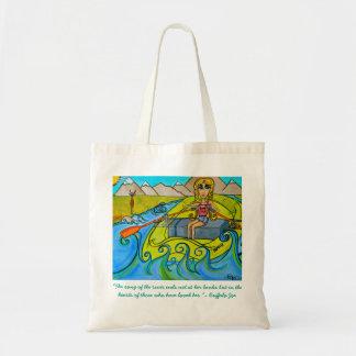 Fille fourre-tout réutilisable de rivière sacs fourre-tout