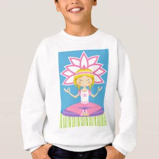 Fille fraîche de yoga de bande dessinée sweatshirt