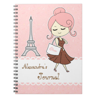 Fille Girly de Tour Eiffel chic et à la mode de Pa Carnet