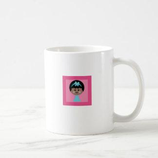 fille heureuse 1 mug blanc