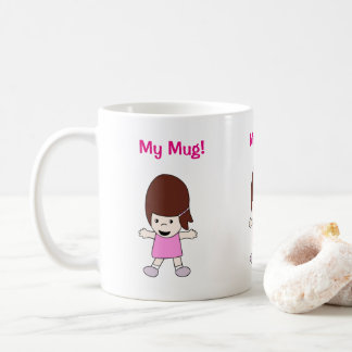 """Fille heureuse mignonne de Kawaii """"ma tasse !"""""""