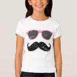 Fille incognito - moustache et lunettes de soleil t-shirt