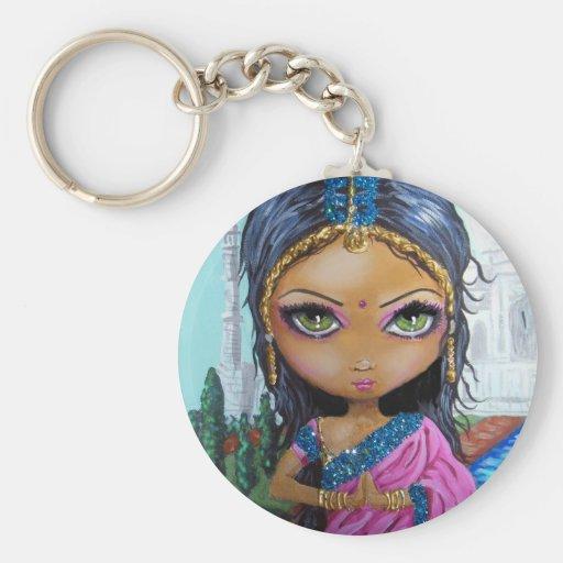 fille indienne de sari porte-clefs