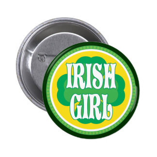 Fille irlandaise badge rond 5 cm
