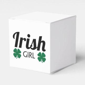 Fille irlandaise boites faveurs de mariage