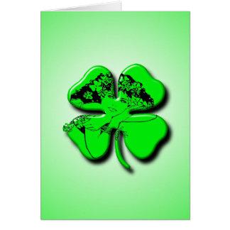 Fille irlandaise carte de vœux