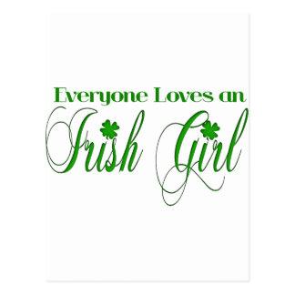 Fille irlandaise carte postale