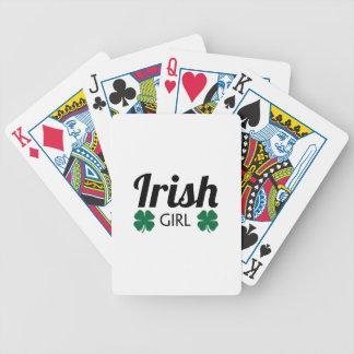 Fille irlandaise jeux de 52 cartes