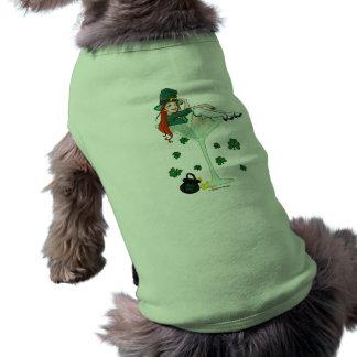 Fille irlandaise Martini T-shirt Pour Chien