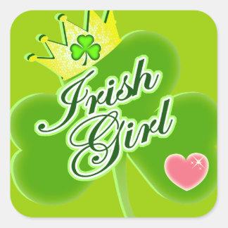 Fille irlandaise sticker carré