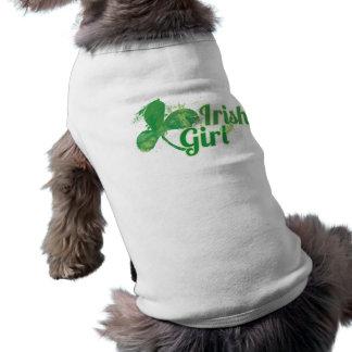 Fille irlandaise t-shirt pour chien