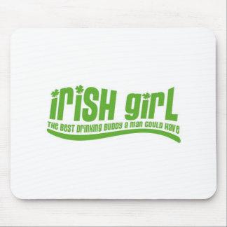 Fille irlandaise tapis de souris
