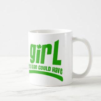 Fille irlandaise tasse à café