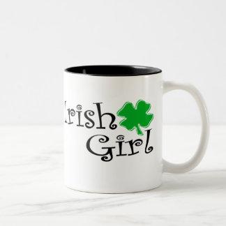 Fille irlandaise tasse 2 couleurs