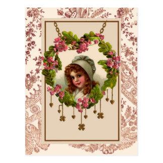 Fille irlandaise vintage cartes postales