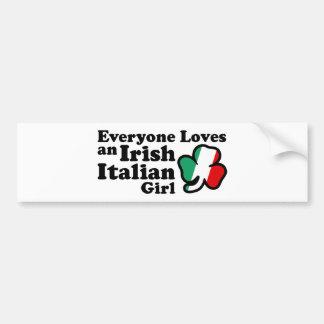 Fille italienne irlandaise adhésif pour voiture