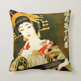 fille japonaise mignonne vintage oreillers