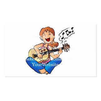 fille jouant la guitare carte de visite standard